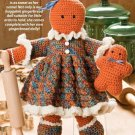 W222 Crochet PATTERN ONLY Ginny Gingerbread Girl Doll & Dolly Pattern