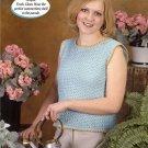 W228 Crochet PATTERN ONLY Sea-Breeze Ladies Shell Sleeveless Top Pattern