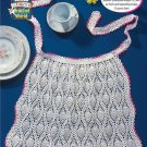 W226 Crochet PATTERN ONLY Beautiful Pineapple Apron Vintage Look Pattern