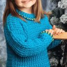 W230 Crochet PATTERN ONLY Child's Playful Sweater Pattern