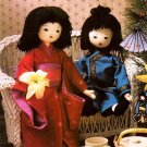 X166 Sewing PATTERN ONLY Cherry Blossom Soft Body Cloth Doll & Clothes Patterns