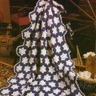 X013 Crochet PATTERN ONLY Snow Flurries Snowflake Afghan Pattern