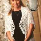 X648 Crochet PATTERN ONLY Love Knot Evening Wrap Pattern