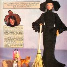 Y477 Crochet PATTERN ONLY Fashion Doll Halloween Witch Gown and Hat Patterns