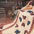 X030 Crochet PATTERN ONLY Butterflies & Flowers Afghan Pattern Butterfly