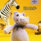 X409 Crochet PATTERN ONLY Happy Hippo Toy Doll Pattern