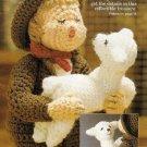 X733 Crochet PATTERN ONLY Hummel Type Shepherd Boy with Lamb Doll Pattern