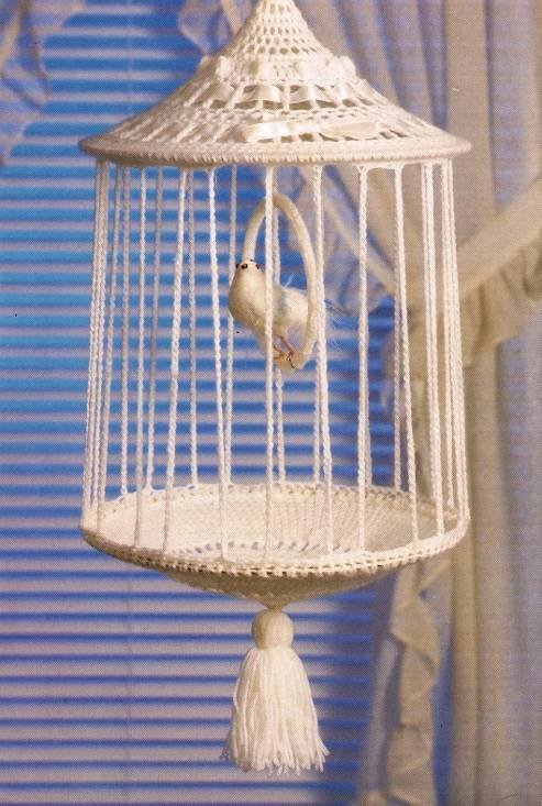 Y304 Crochet PATTERN ONLY Bird Cage Home Decor Pattern