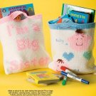 Y562 Crochet PATTERN ONLY I'm a Big Sis or Big Bro Tote Bag Patterns