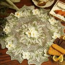 X702 Crochet PATTERN ONLY English Meadow Doily Flowers
