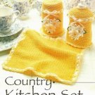 X619 Crochet PATTERN ONLY Daisy Country Kitchen Set & 2 Placemat Pattern