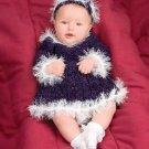 Y934 Crochet PATTERN ONLY Snow Princess Baby Dress & Headband Pattern