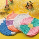 W042 Crochet PATTERN ONLY 4 Easter Egg Pot Holder Potholder Patterns
