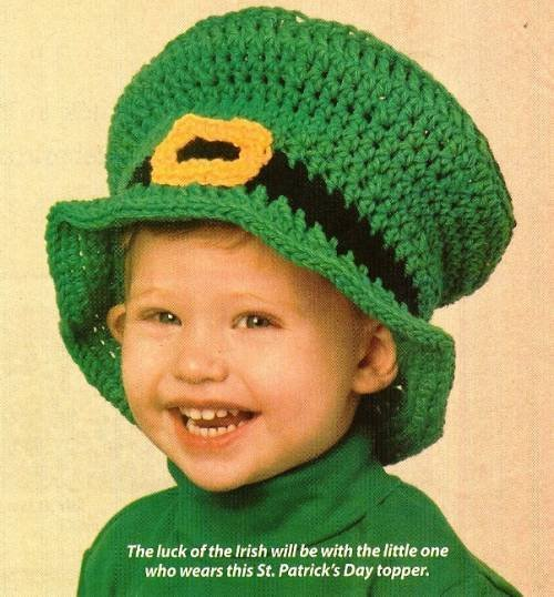 X679 Crochet PATTERN ONLY Leprechaun Hat Toddler Child & Adult Sizes