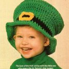X679 Crochet PATTERN ONLY Leprechaun Hat Toddler Child & Adult Sizes