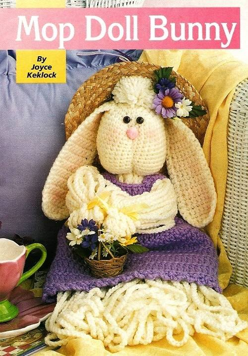 X507 Crochet PATTERN ONLY Mop Doll Bunny Rabbit Toy Pattern