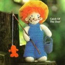 Y242 Crochet PATTERN ONLY Fishing Freddie Boy Doll Toy Pattern