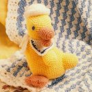 X224 Crochet PATTERN ONLY Little Waves Afghan & Sailor Duck Toy Pattern Set