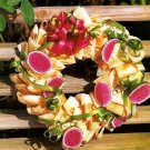 Y890 Craft PATTERN ONLY Corn-Husk Wreath with Paper-mache Watermelon Pattern