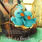 X461 Crochet PATTERN ONLY Blue Birds of a Feather Doll Toy Pattern