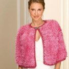 W143 Crochet PATTERN ONLY Raspberry Fluff Capelet Pattern