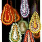Y972 Crochet PATTERN ONLY Jewel Tone Paisley Christmas Ornament Patterns