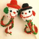 X272 Crochet PATTERN ONLY Snowman Lollipop Ornament Pattern & Bonus