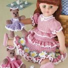 Y842 Crochet PATTERN ONLY Teddy Bears Picnic Toy Dolls Dress Pattern