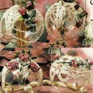 X101 Crochet PATTERN ONLY 4 Victorian Christmas Ornament Covers Patterns