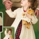 X042 Crochet PATTERN ONLY Nostalgic Victorian Coats Girl and Teddy Pattern