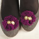 W148 Crochet PATTERN ONLY Ruffled Fashion Clips Pattern for Shoes or Anything!