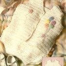 Y737 Crochet PATTERN ONLY Balloon Baby Romper with Ruffles Pattern