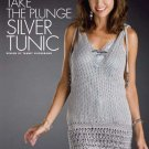Y701 Crochet PATTERN ONLY Sleeveless Plunging Neckline Silver Tunic Pattern