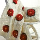 W250 Crochet PATTERN ONLY Flower Afghan and Pillow Pattern