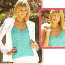 X730 Crochet PATTERN ONLY Lacy Shells Tank Top