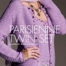 W254 Crochet PATTERN ONLY Parisienne Sweater Twin Set Pattern Tank Cardigan