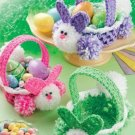 W276 Crochet PATTERN ONLY Baby Bunny Easter Baskets Patterns