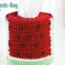 W277 Crochet PATTERN ONLY Watermelon Plastic-Bag Dispenser Cover Pattern