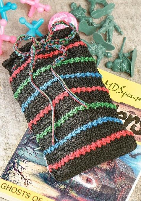 W286 Crochet PATTERN ONLY Little Treasure Sack Drawstring Bag Pattern