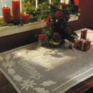 X898 Filet Crochet PATTERN ONLY Holiday Greetings Table Runner Christmas