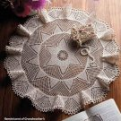 W292 Crochet PATTERN ONLY Starflower Table Topper Scarf Pattern