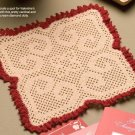 W304 Filet Crochet PATTERN ONLY Scrolled Hearts Doily Pattern