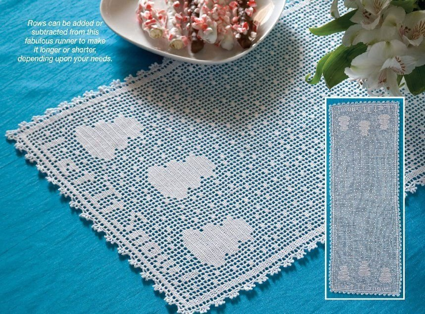 W305 Filet Crochet PATTERN ONLY Let it Snow Snowman Table Runner Scarf Pattern