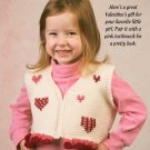 W349 Crochet PATTERN ONLY Child's Country Hearts Vest Pattern