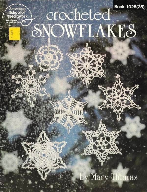 X070 Crochet PATTERN Book ONLY Crocheted Snowflakes Ornaments Christmas Pattern