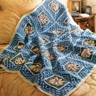 Y560 Crochet PATTERN ONLY Water Lilies Coverlet Afghan Pattern