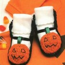 Y756 Crochet PATTERN ONLY Jack-o-Lantern Baby Booties Halloween Pattern