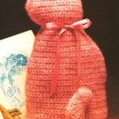 X124 Crochet PATTERN ONLY Old Fashioned Cat Pillow or Toy Pattern