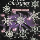 X205 Crochet PATTERN ONLY White Christmas Snowflakes Ornament Pattern