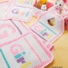 W351 Crochet PATTERN ONLY Baby Girl Blanket Bib Basket and Burp Pad Set